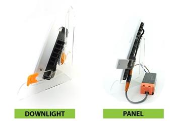 Sự Khác Nhau Giữa Đèn Panel Và Đèn Downlight Tán Quang