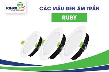 Các mẫu đèn led âm trần Ruby Kingled