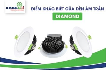 Điểm khác biệt của đèn led âm trần Diamond Kingled