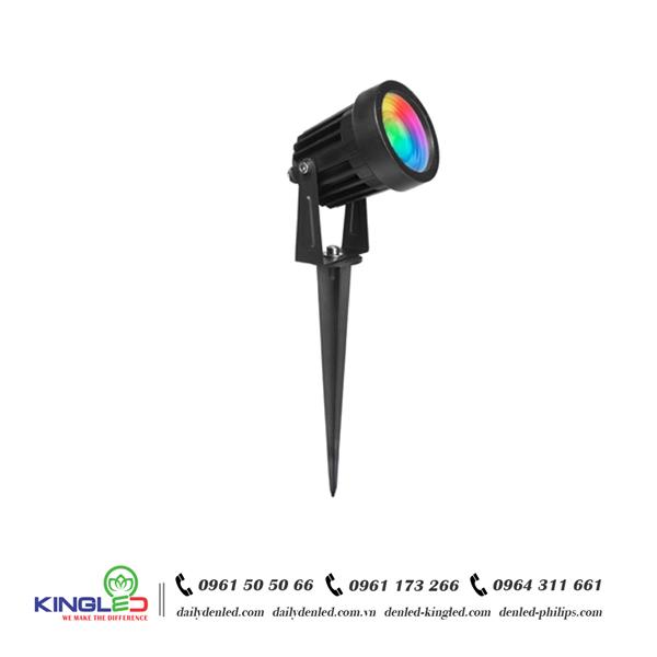 Đèn LED cắm cỏ COB 7W đổi màu RBG - KingLED