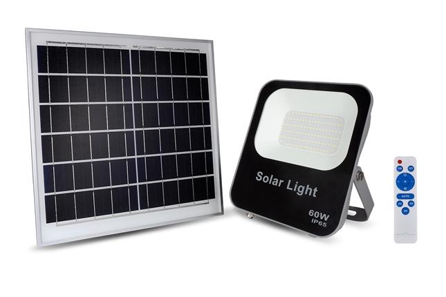 Đèn pha năng lượng mặt trời 60W, a.s trắng KINGECO
