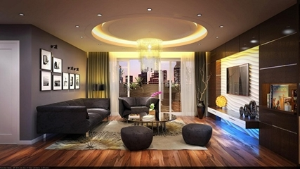 Cách bố trí đèn trần thạch cao trong không gian gia đình