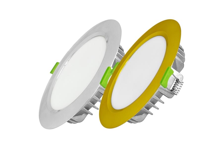 Đèn Led Âm Trần Mặt Màu 12W/110, 1 Màu (EC-DLSS Series)