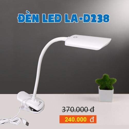 Đèn LED bàn học chân kẹp - LA-D238 - KingLED