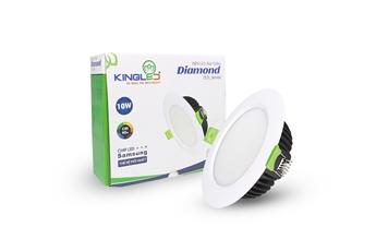 Đèn Led Âm Trần Downlight Kingled giá tốt - siêu sáng tiết kiệm điện 80%. Âm trần 1 màu, đổi màu (3 màu), dimmer - 3W,8W,12W