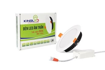 Đèn led downlight âm trần thạch cao Kingled giá tốt - siêu sáng tiết kiệm điện 80%. Âm trần 1 màu, đổi màu (3 màu), dimmer - 3W,8W,12W
